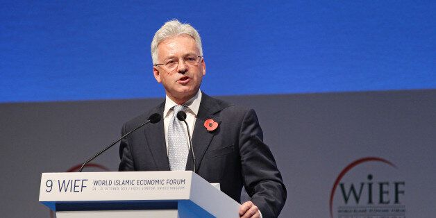 LONDON, ENGLAND - OCTOBER 31: Minister of State for International Development Alan Duncan presents at...
