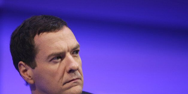 George Osborne, U.K. chancellor of the exchequer, pauses during the Institute of Directors (IOD) annual...
