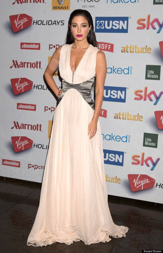 Myleene Klass And Tulisa Lead Celebs On Attitude Awards 2014 Red Carpet