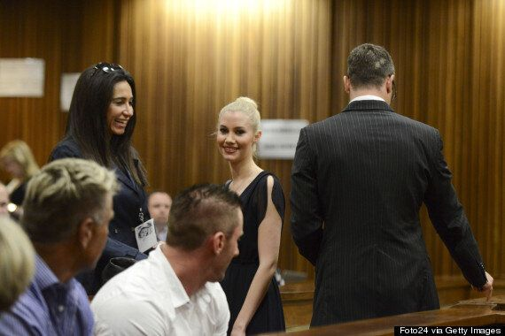 Oscar Pistorius's Ex Samantha Taylor In Court As Athlete Awaits Sentencing For Killing Of Reeva