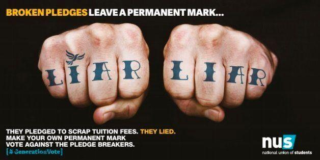 NUS Announces More Anti-Lib Dem 'Liar Liar' Billboards Despite Student
