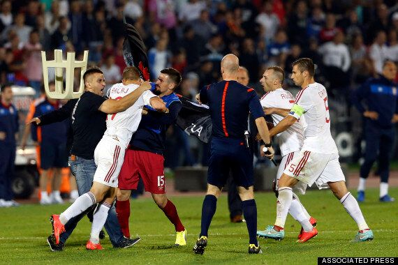 Serbia And Albania Match Abandoned Over Drone Invasion