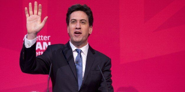 Opposition Labour leader Ed Miliband makes a speech at The ARC Theatre & Arts Centre on living standards...