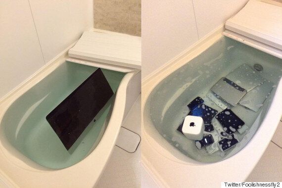 Girlfriend Dumps Cheating Boyfriend's Apple Gadgets In The