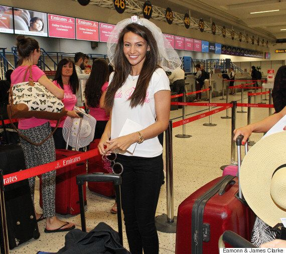 Michelle Keegan Jets Off for Dubai Hen Do Ahead Of Wedding To Mark Wright