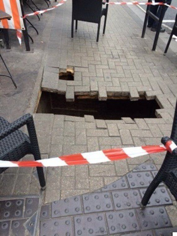 Fulham Pavement Collapse Swallows Woman On North End