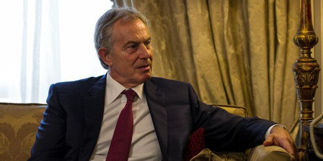 CAIRO, EGYPT- AUGUST 06: Former British Prime Minister and Middle East peace envoy Tony Blair meets with...