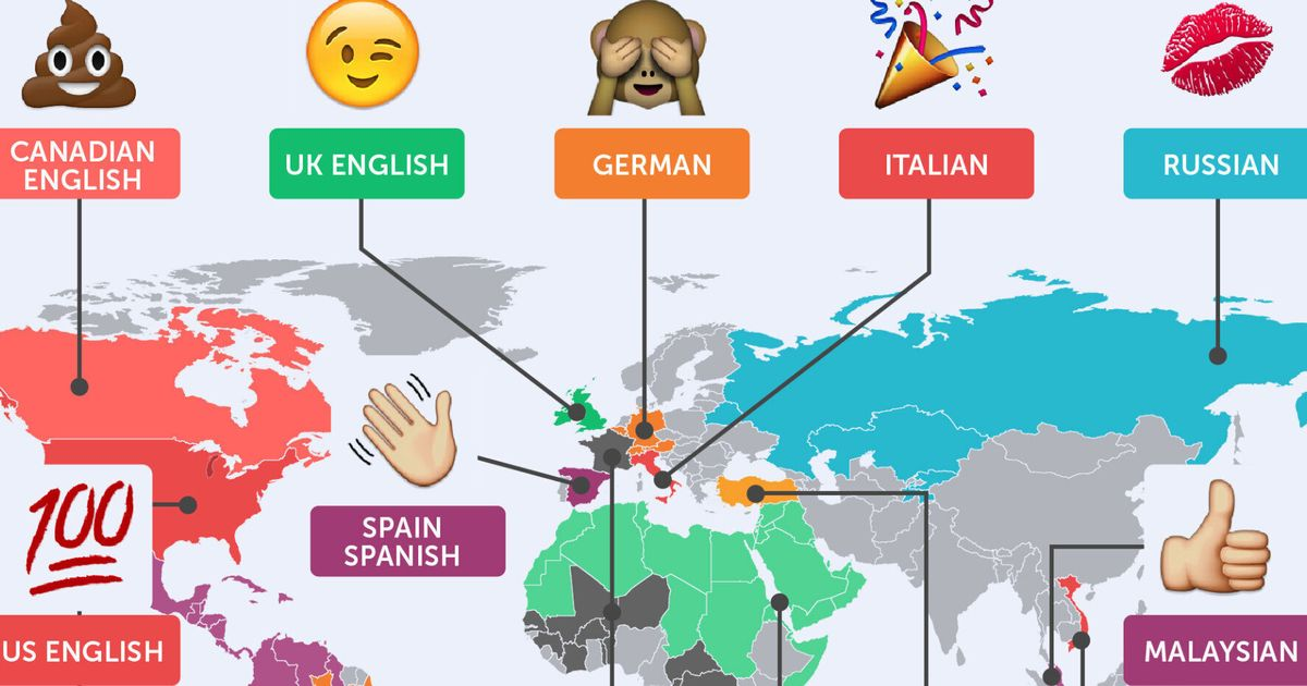 Study Reveals The Emojis Each Country Uses The Most