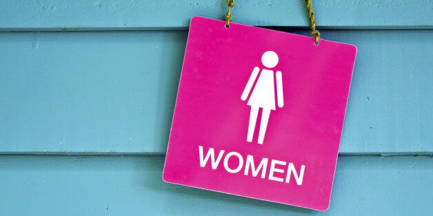 Sign of public toilets WC restroom for women