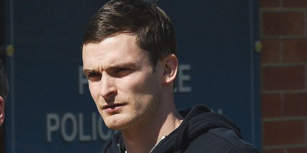 England footballer and Sunderland winger Adam Johnson, arrives to answer bail at Peterlee Police station...
