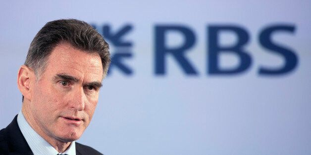 Ross McEwan, chief executive officer of the Royal Bank of Scotland Group Plc (RBS), speaks to staff and...
