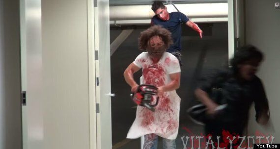 Halloween Chainsaw Massacre Prank Will Scare The Living Daylights Out Of You (GRAPHIC MATERIAL