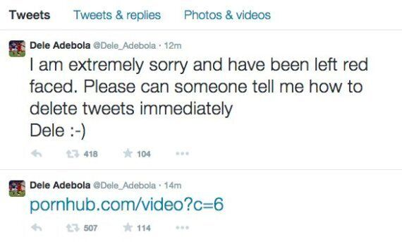 Dele Adebola Posts PornHub Link, Can't Delete