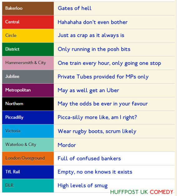 Tube Strike Update: Train Information And Line