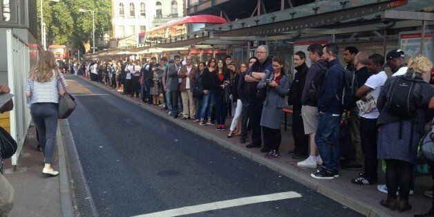 London Tube Strike Has Created The World's Longest Bus Queue