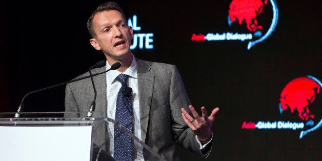 Andy Haldane, executive director of financial stability for the Bank of England, speaks during the Asia-Global...