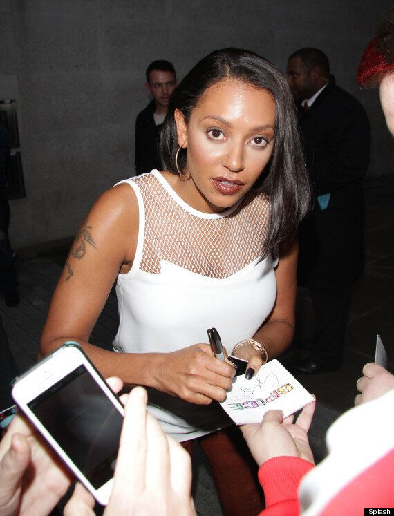 Mel B Suffers Scary Make-Up Malfunction As She Arrives At BBC Studios