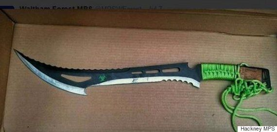 Terrifying 'Zombie Killer' Knife Believed To Have Been Stashed By Gang Members Found In East London