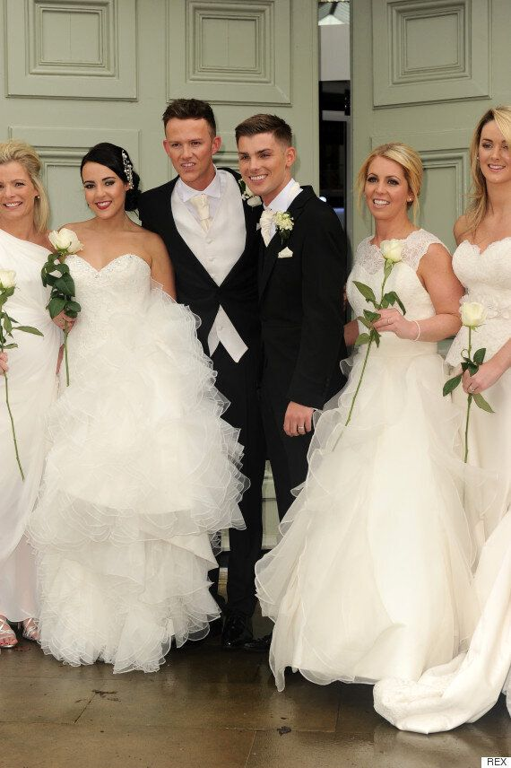 'Hollyoaks' Star Kieron Richardson Ties The Knot, With Co-Stars Past And Present Among Bridesmaids