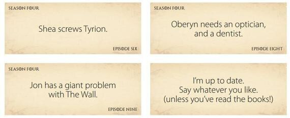 Top Five Ways to Avoid 'Game of Thrones'