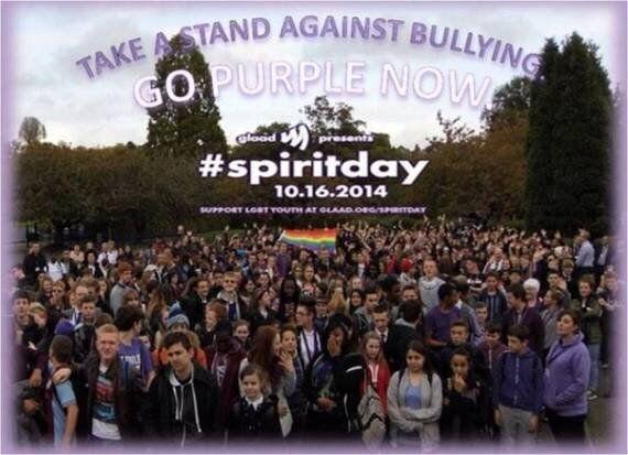 Purple Reigns: Spirit Day 2014 at Dame Elizabeth Cadbury School, Birmingham,
