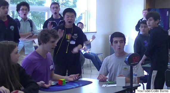 Teenager Sets Rubik's Cube World