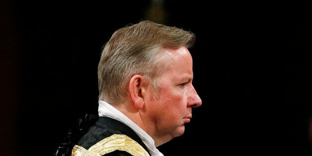 Justice Secretary Michael Gove before the State Opening of Parliament, in the House of Lords at the Palace...