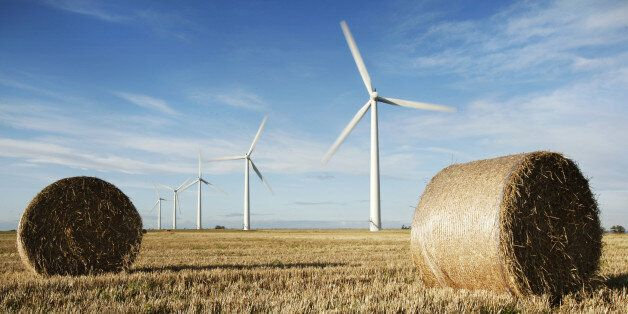Westmill Wind Farm Co-op, the first onshore wind farm to be built in the south-east of England is pictured...