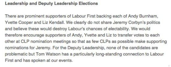 Labour Pressure Group In Bid To 'Stop