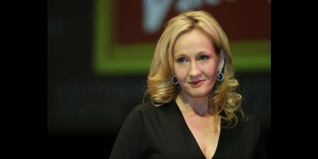 FILE This is a Thursday, Sept. 27, 2012 file photo of British author J.K. Rowling as she poses for the...