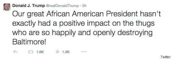 Baltimore Riots Spark Twitter War Over Donald Trump's 'Racist' Barack Obama