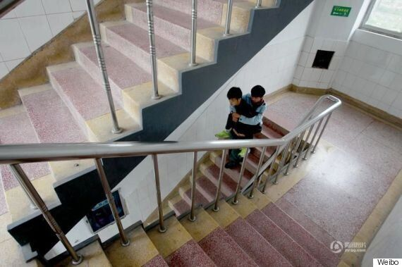 Inspiring Chinese Student Carries His Disabled Friend To School Every Day For Three