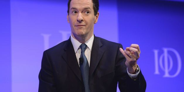 Chancellor of the Exchequer George Osborne speaks during the Institute of Directors annual conference...