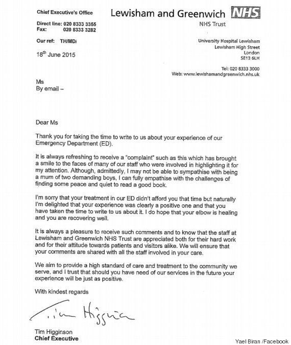 Woman Writes Hilarious Letter Of Complaint To Nhs Because