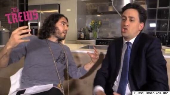 Russell Brand Interviews Ed Miliband On 'Trews', Daily Mail Goes To