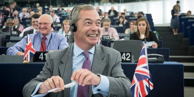 Nigel Farage , British Member of the European parliament and leader of the UK Independence Party (UKIP),...