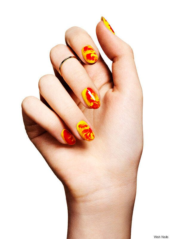 Lava Nail Art Tutorial By Wah Nails' Sharmadean Reid For #ManicureMonday