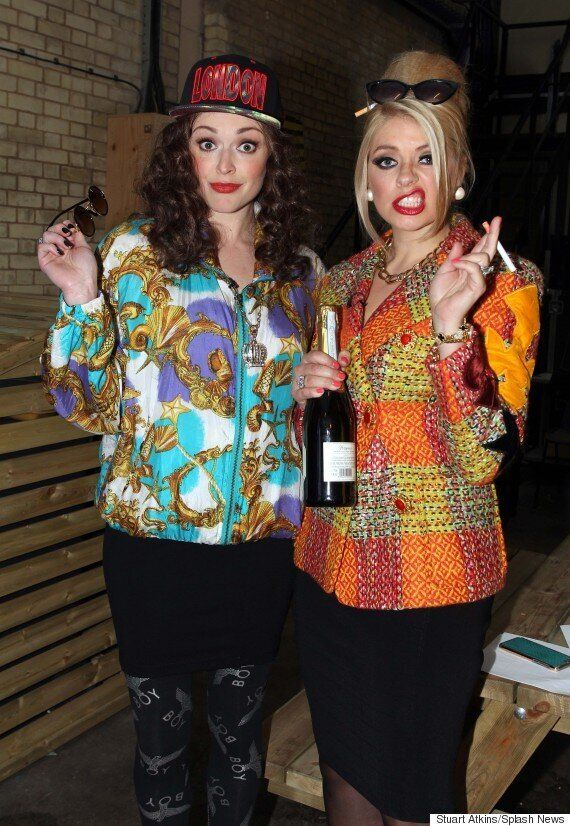 Holly Willoughby And Fearne Cotton Do Eddie And Patsy And Look 'Absolutely Fabulous', Darling!