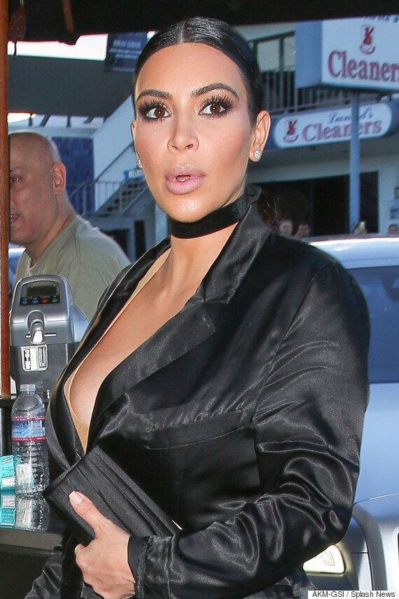 Kim Kardashian Sports Questionable Outfit For Low-Key Dinner In Los Angeles