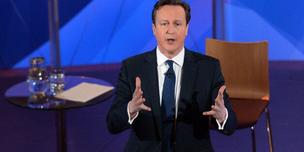 Prime Minister David Cameron takes part in a special BBC Question Time programme with the three main...