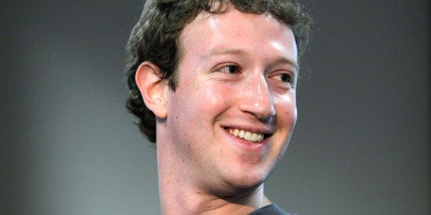 Facebook CEO Mark Zuckerberg smiles during a product announcement at Facebook headquarters in Palo Alto,...