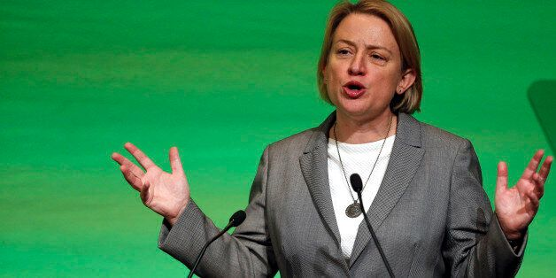 Leader, Natalie Bennett at the Green Party Conference in