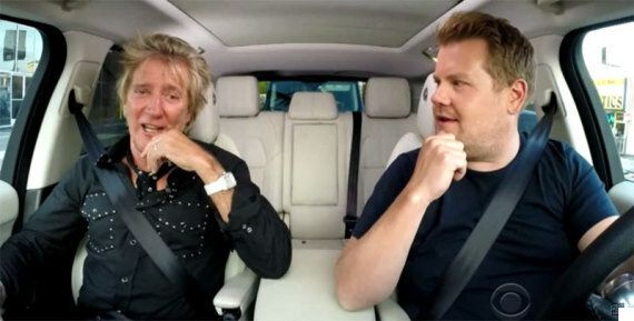 Rod Stewart Does Carpool Karaoke On James Corden's 'Late Late Show' With A Little Help From A$AP Rocky...