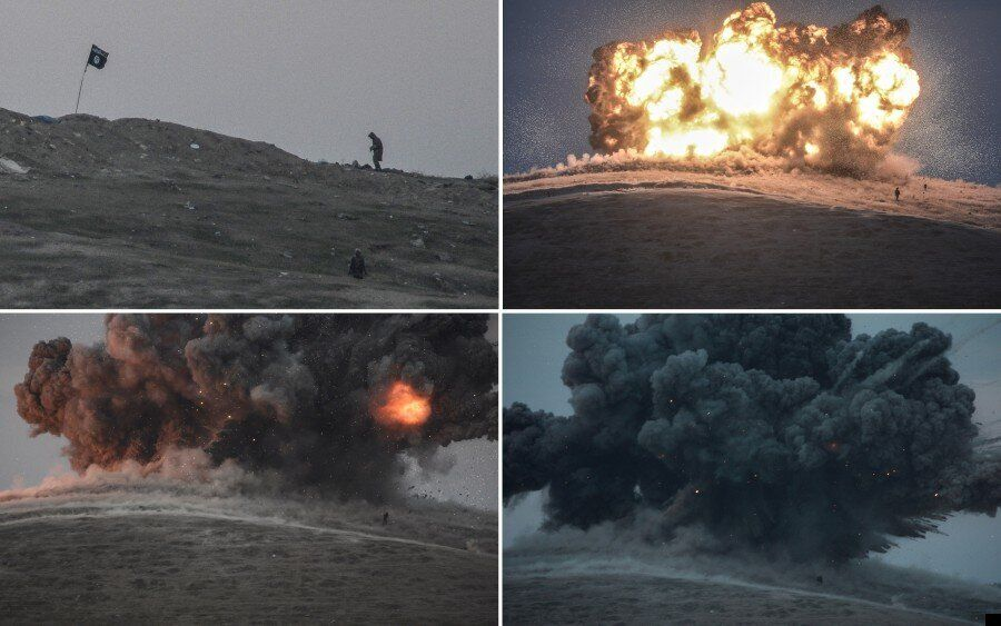 Airstrike Devastates Kobani Hill As Death Toll In Syria From Coalition Campaign Tops