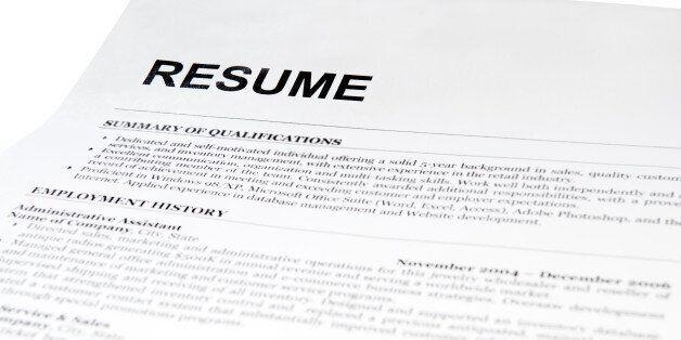 resume form on