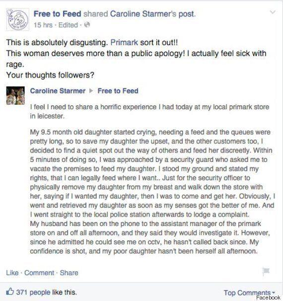 Primark Breastfeeding Row Deepens As 'Hate Mob' Accuses Store Of Sanctioning