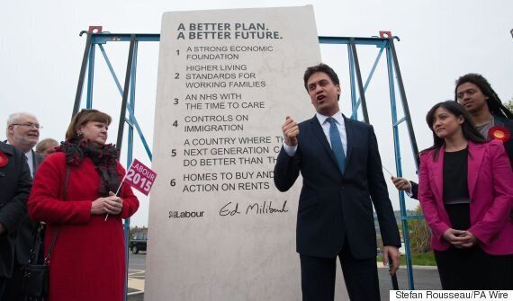 Ed Miliband Dubbed 'Moses' For Pledging To Erect Stone In Downing Street With Election