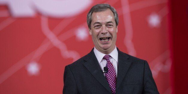 Britain's United Kingdom Independence Party's (UKIP) Nigel Farage speaks at the annual Conservative Political...