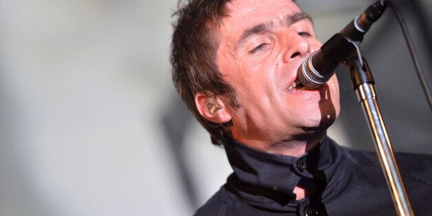Liam Gallagher and his band Beady Eye perform, on Thursday, June 20, 2013 in London, England. (Photo...