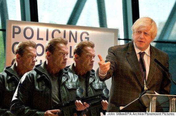 Boris Johnson Purchases Three Slightly Used Terminator Units For London Riot